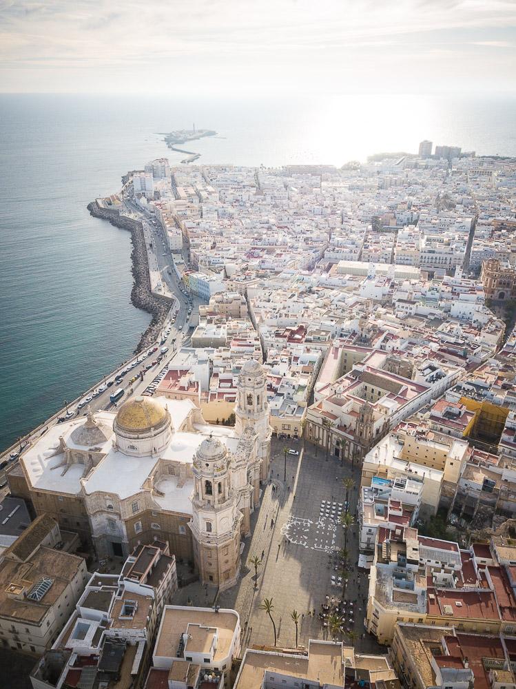Aerial view of Cadiz, Andalucia, Spain