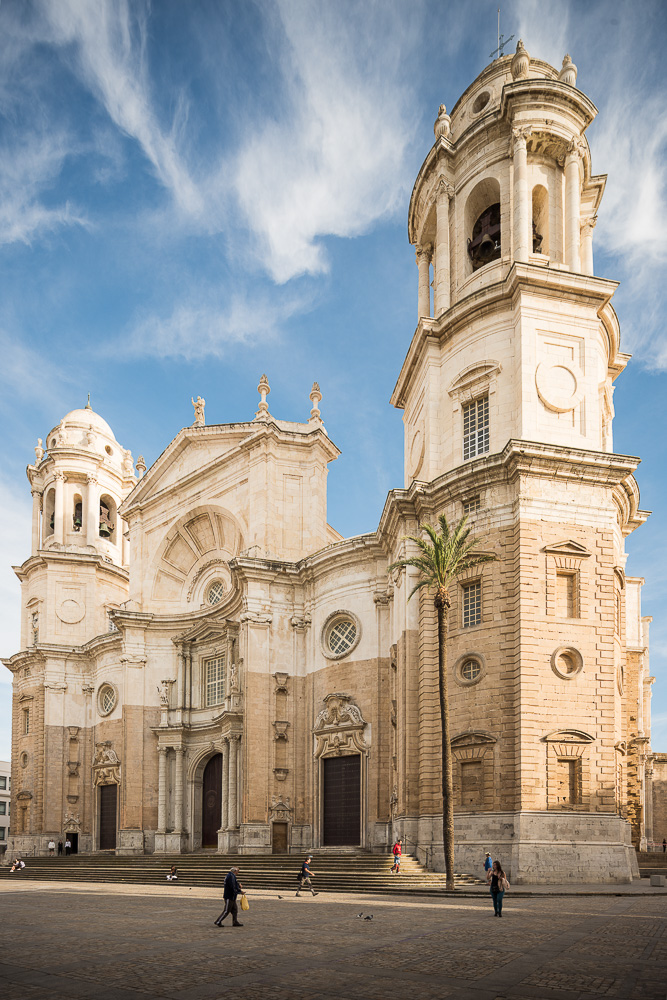 Exterior of Cathedral, Cadiz, Andalucia, Spain