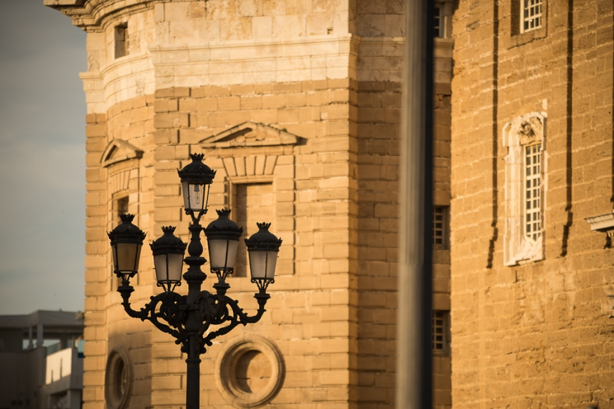 Lampost, Cadiz, Andalucia, Spain