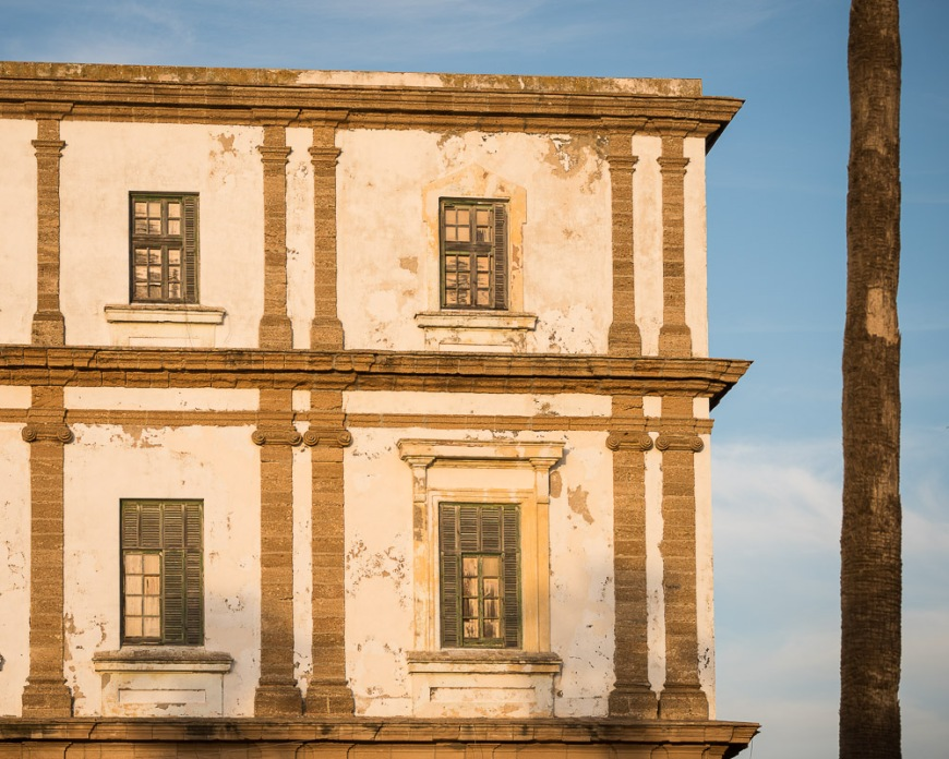 Facade of building, Cadiz, Andalucia, Spain
