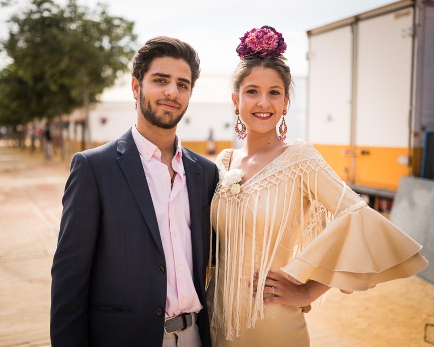 Portrait of couple, Feira de Cordoba, Cordoba, Andalucia, Spain