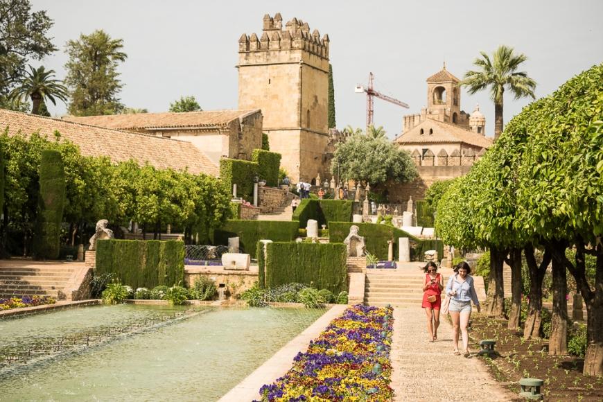 Gardens at The Alcazar, Cordoba, Andalucia, Spain