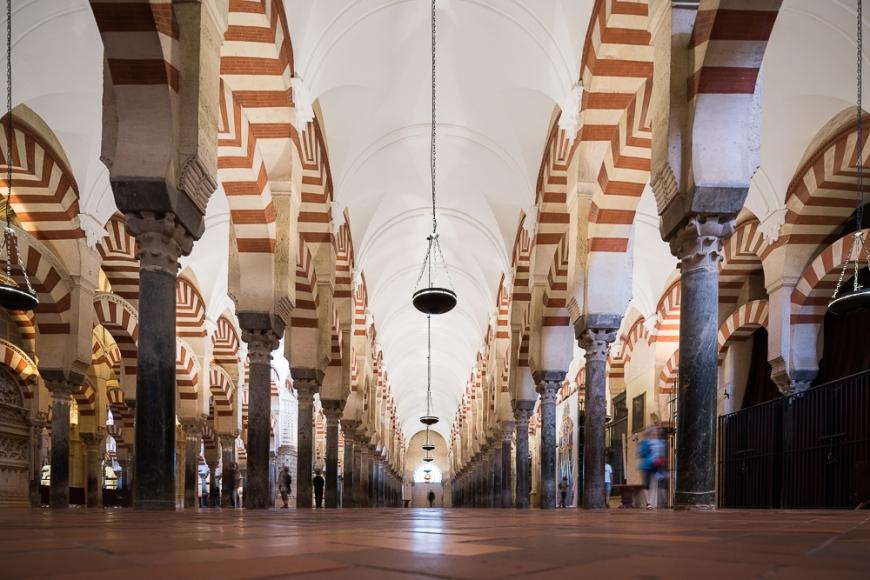 Interior of The Mosque–Cathedral (Mezquita) of Córdoba, Cordoba, Andalucia, Spain
