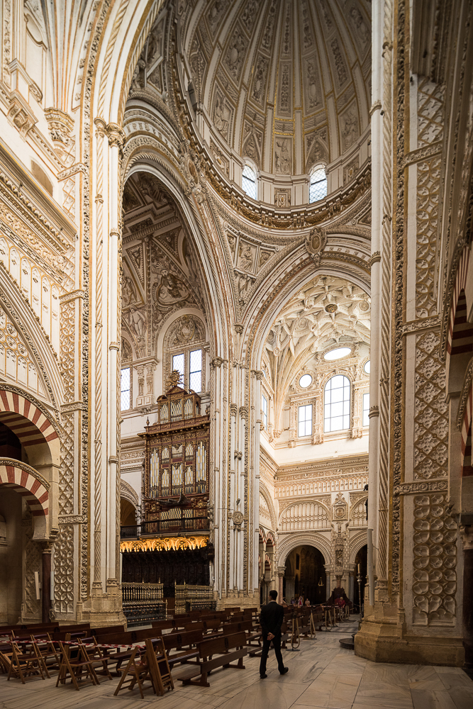 Interior of The Mosque–Cathedral (Mezquita) of Córdoba, Cordoba, Andalucia, Spain