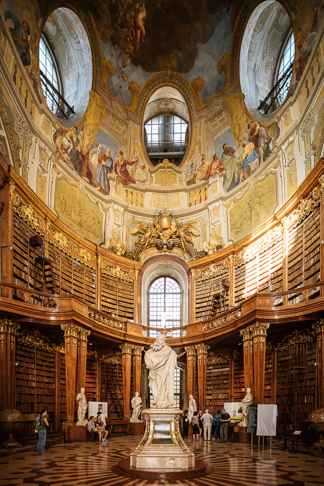 Interior of The Austrian National Library, Vienna, Austria