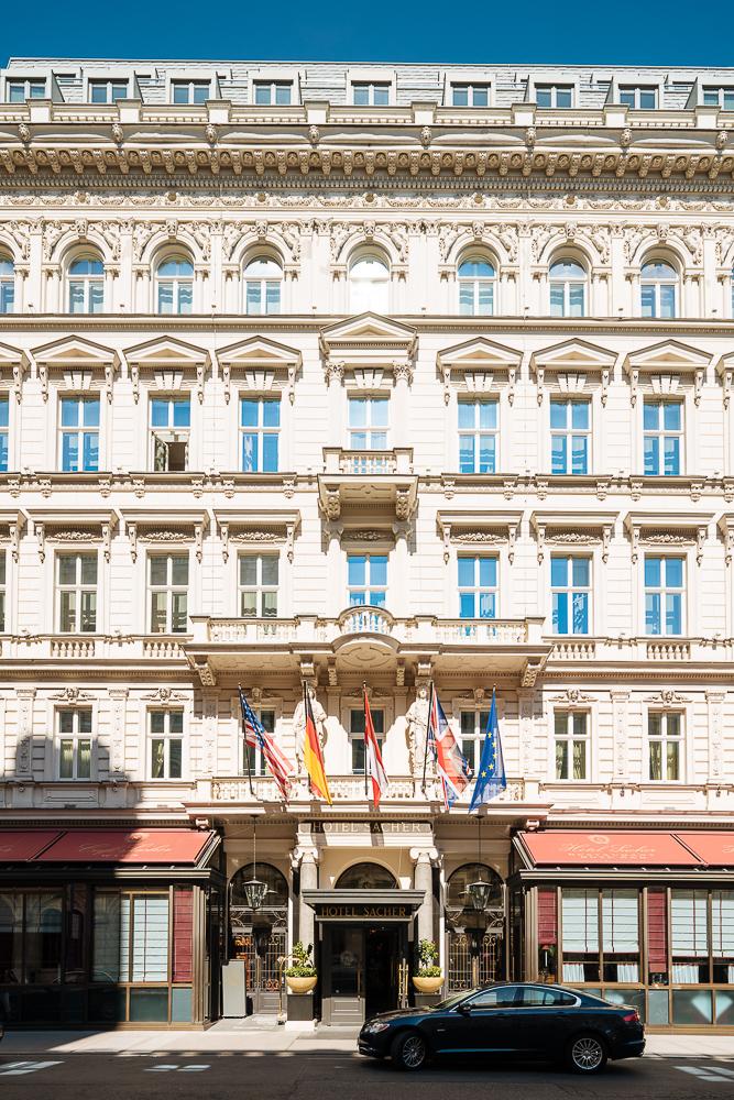 Exterior of Hotel Sacher, Vienna, Austria