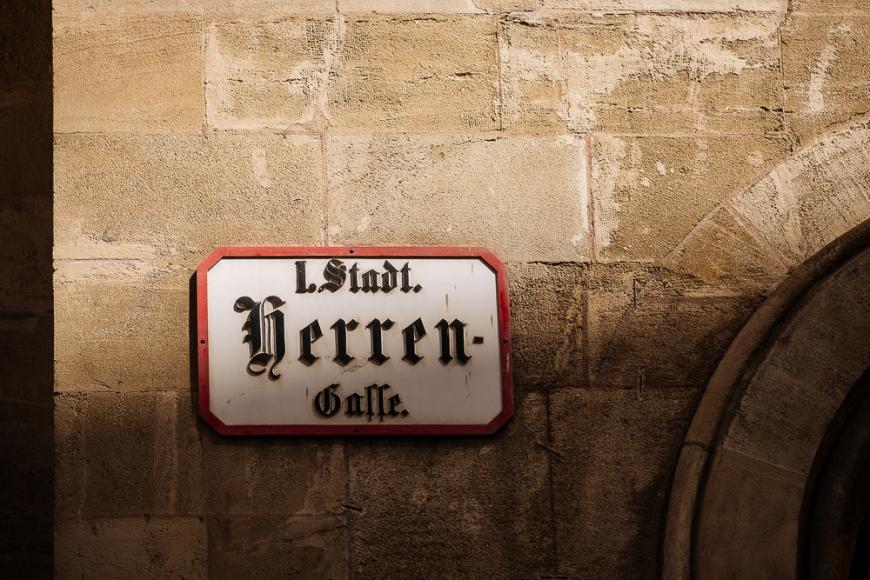 Street Sign, Vienna, Austria