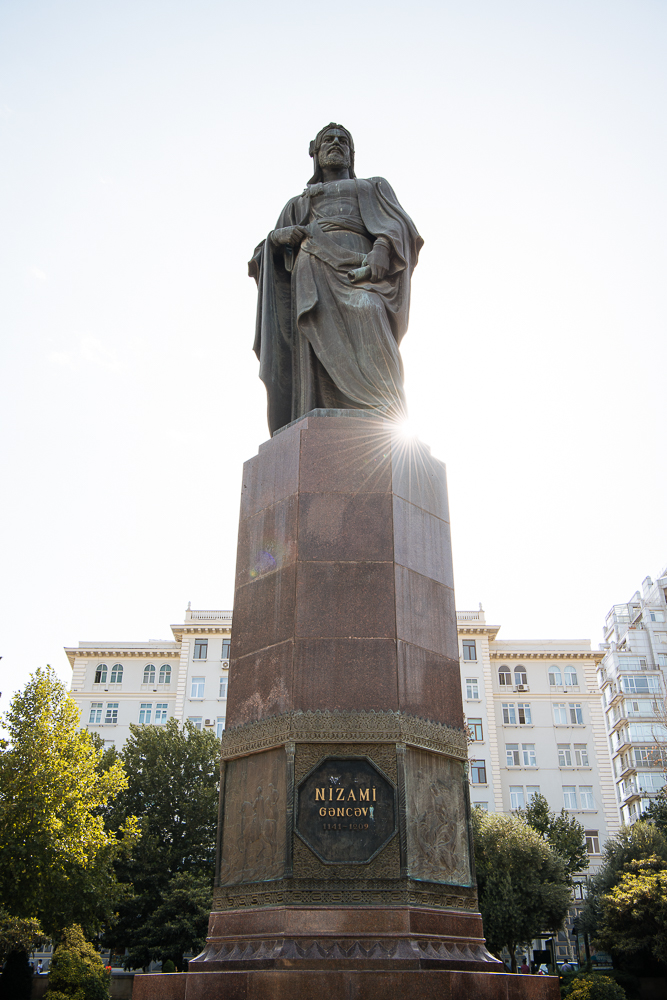 Nizami Monument, Baku, Azerbaijan