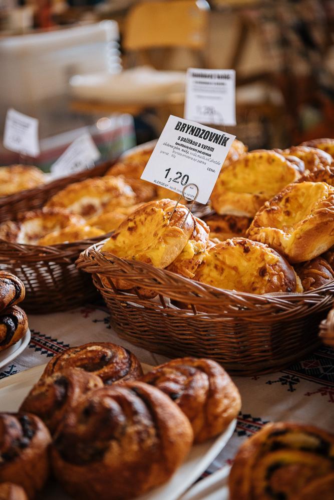 Bakery stall, Old Market, Old Town, Bratislava, Slovakia