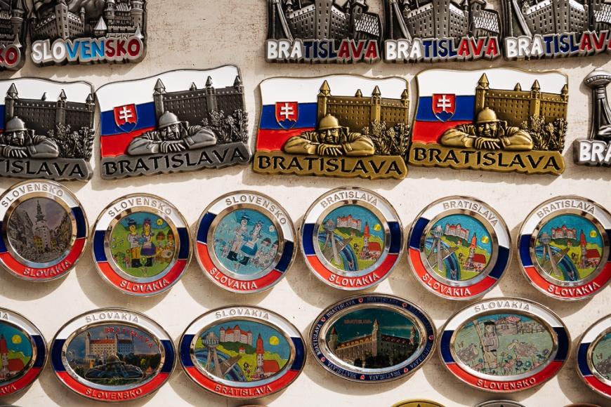 Fridge Magnets for sale, Old Town, Bratislava, Slovakia