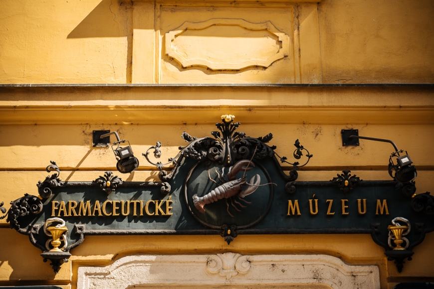 Traditional sign for Pharmacy, Old Town, Bratislava, Slovakia