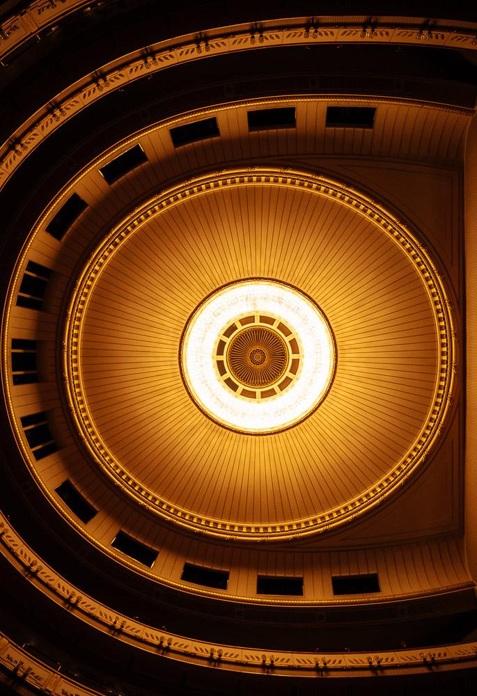Interior of Opera House Wiener Staatsoper, Vienna, Austria