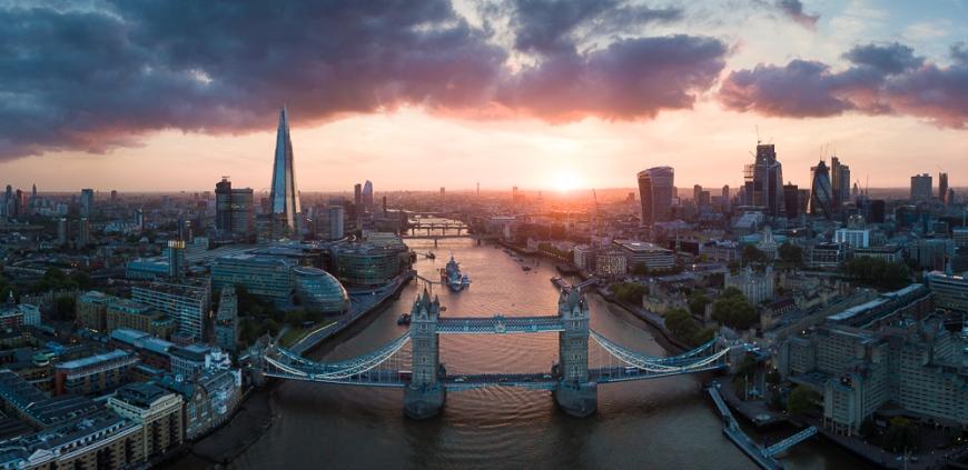 Sunset over Tower Bridge, London, UK