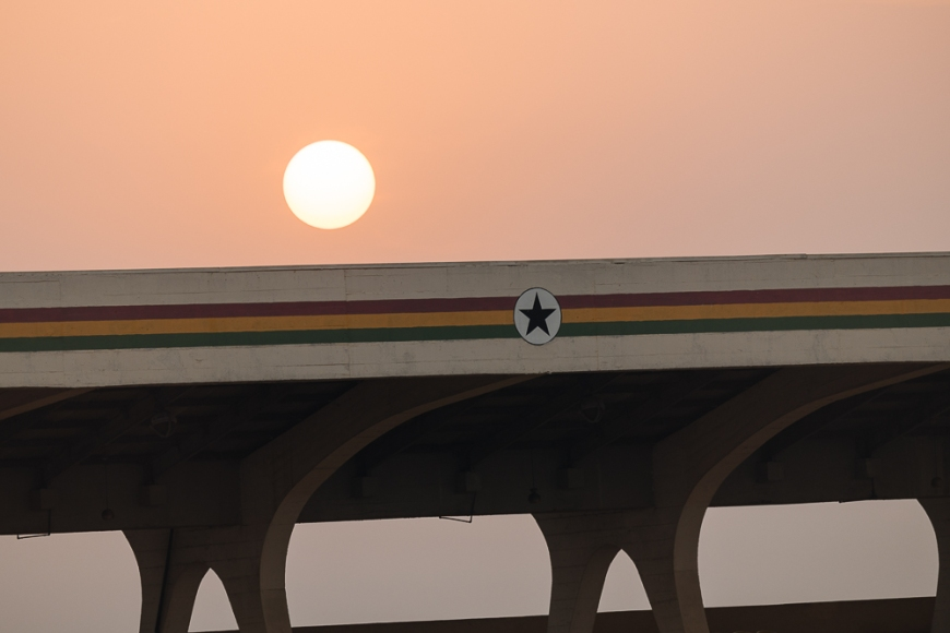 Sunrise at Independence Square, Accra, Ghana, Africa