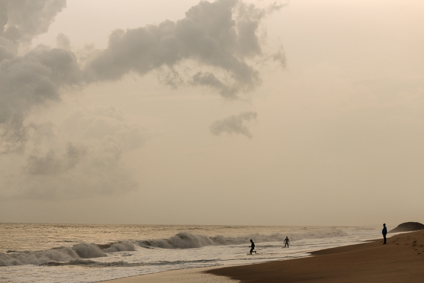 Beach at Sunset, Cape Coast, Ghana, Africa