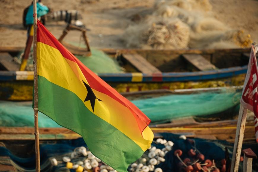 Ghanian Flag, Cape Coast, Ghana, Africa