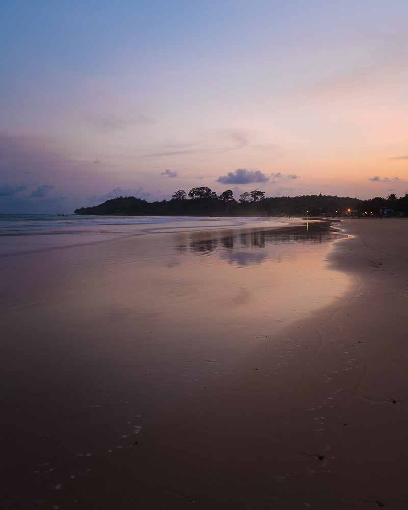 Sunset over beach, Busua, Ghana, Africa