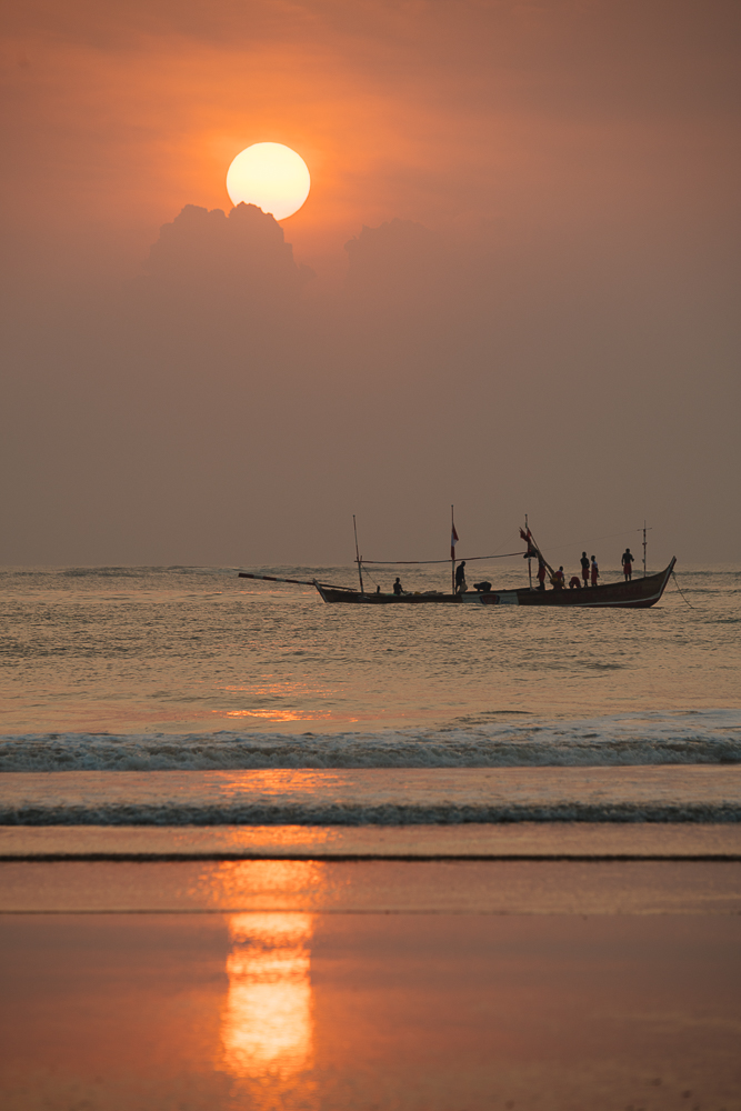 Sunrise at Busua Beach, Busua, Ghana, Africa