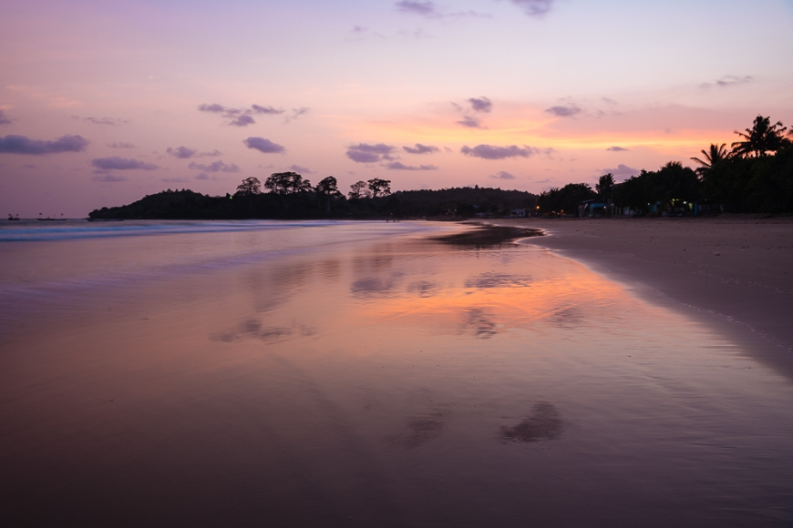 Busua Beach at sunset, Ghana, Africa