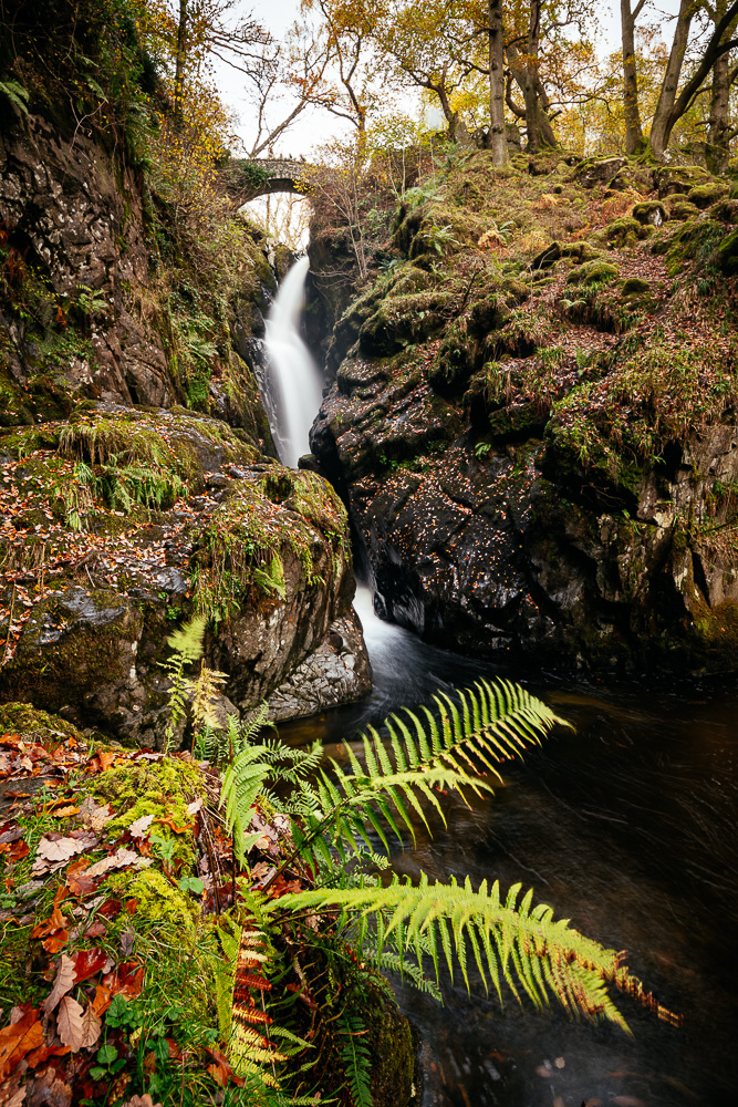 Aira Force Waterfall, Lake District, Cumbria, England, United Kingdom