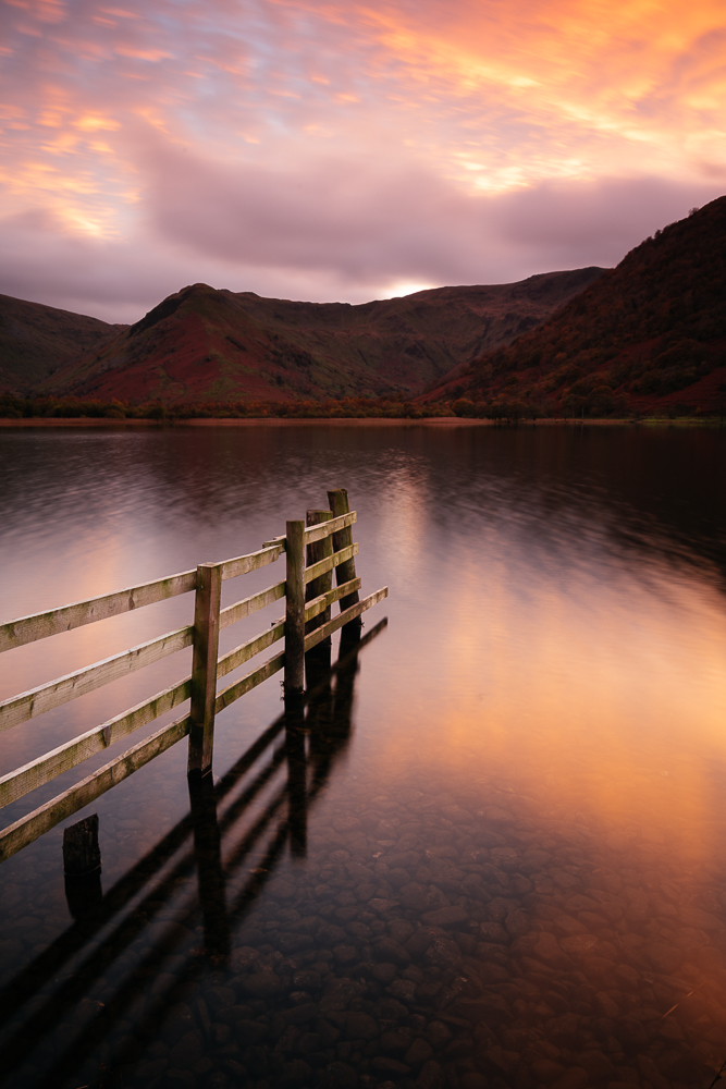 Brothers Water at sunset, Dovedale, Lake District, Cumbria, England, United Kingdom