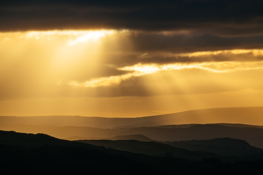 Sunrise from Loughrigg Fell, Lake District, Cumbria, England, United Kingdom