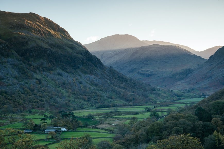 Autumn in Borrowdale Valley, Lake District, Cumbria, England, United Kingdom