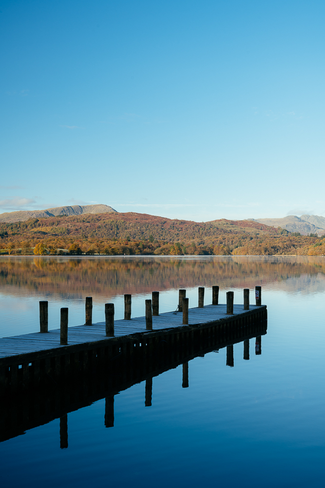 Still morning light at Lake Windermere, Lake District, Cumbria, England, United Kingdom