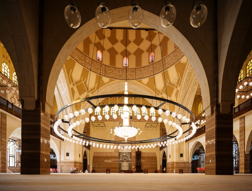 Interior of Al Fateh Grand Mosque, Manama, Bahrain
