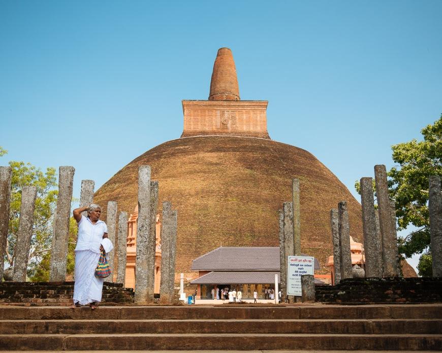 Abhayagiri Dagoba, Anuradhapura, North Central Province, Sri Lanka, Asia