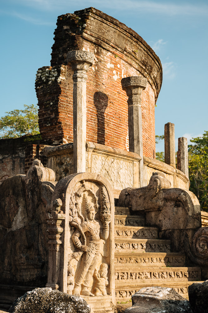 Vatadage Temple, Polonnaruwa, North Central Province, Sri Lanka, Asia