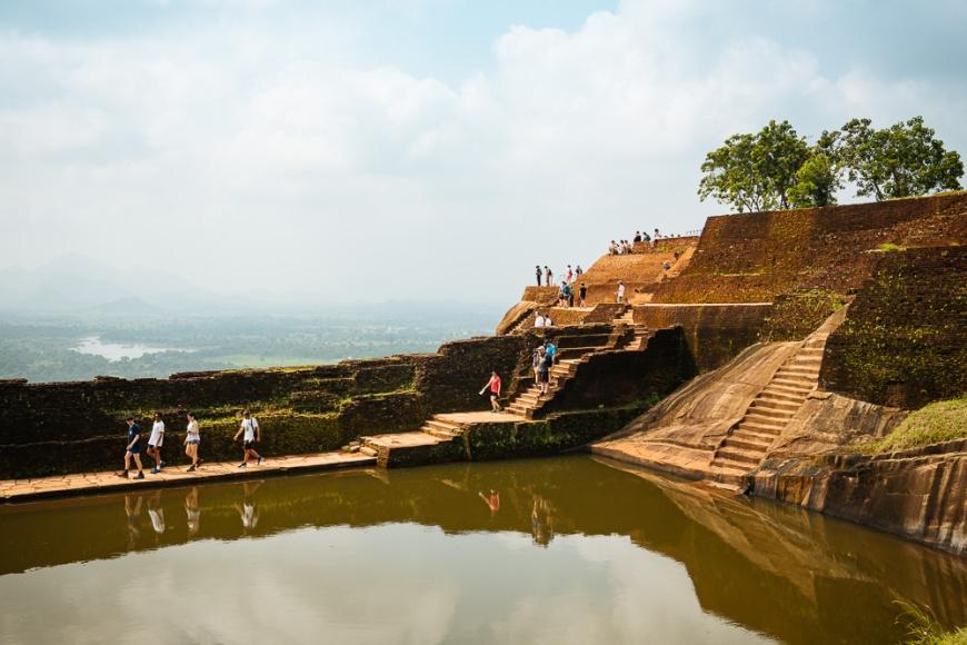 Water tank, Sigiriya, Central Province, Sri Lanka, Asia