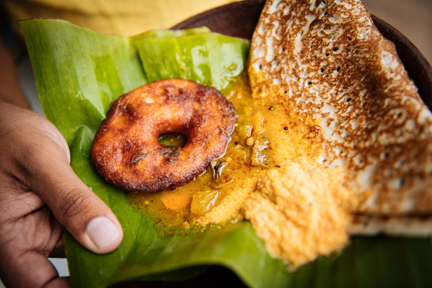 Deep fried snack, Aluviharaya Rock Cave Temple, Central Province, Sri Lanka, Asia