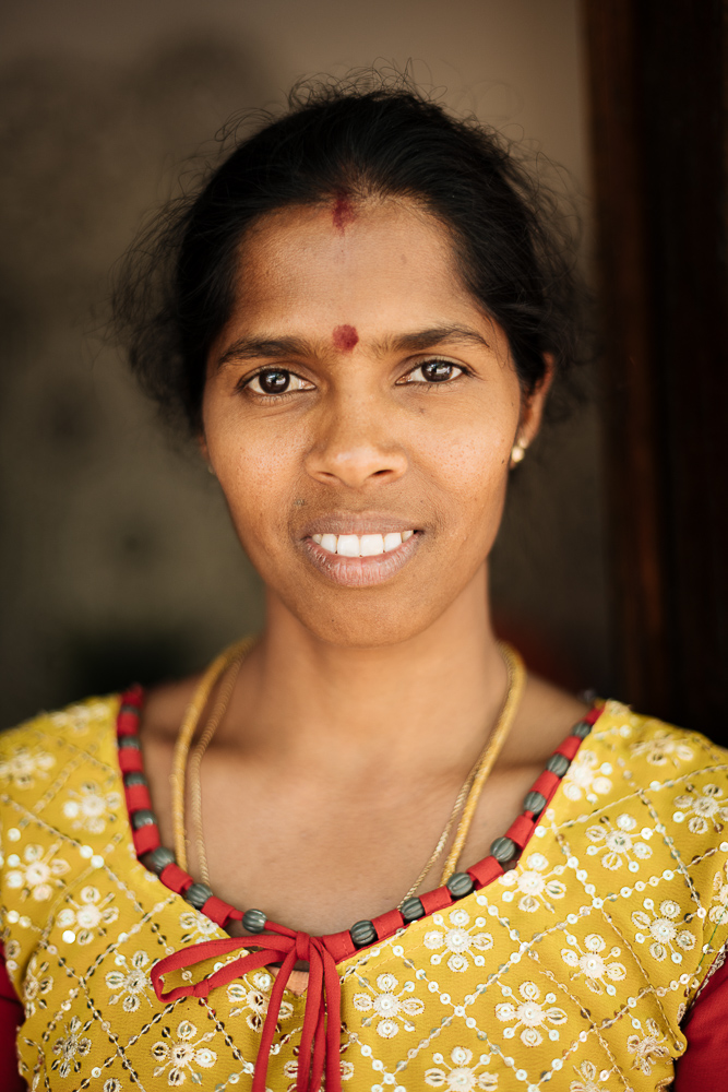 Portrait of Padmini, Ella, Uva Province, Sri Lanka, Asia