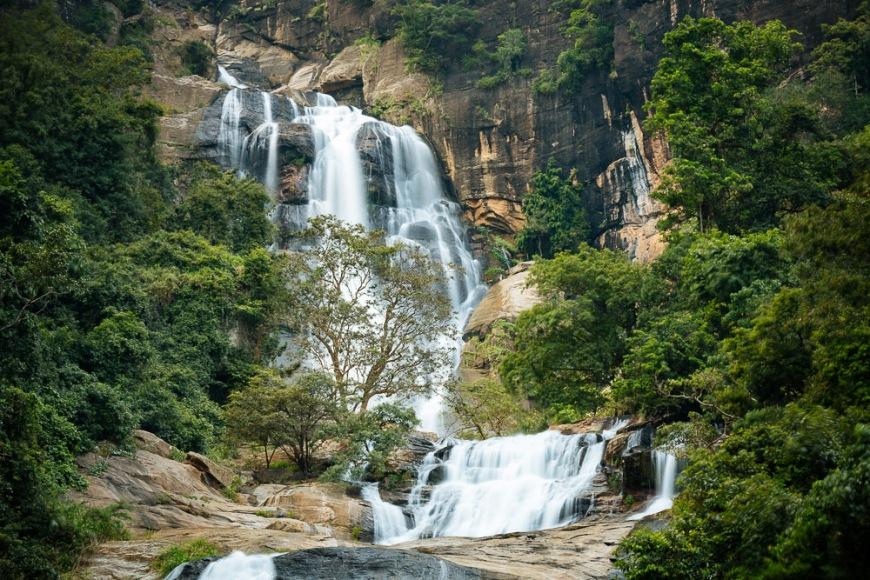 Rawana Ella Falls, Ella, Uva Province, Sri Lanka, Asia