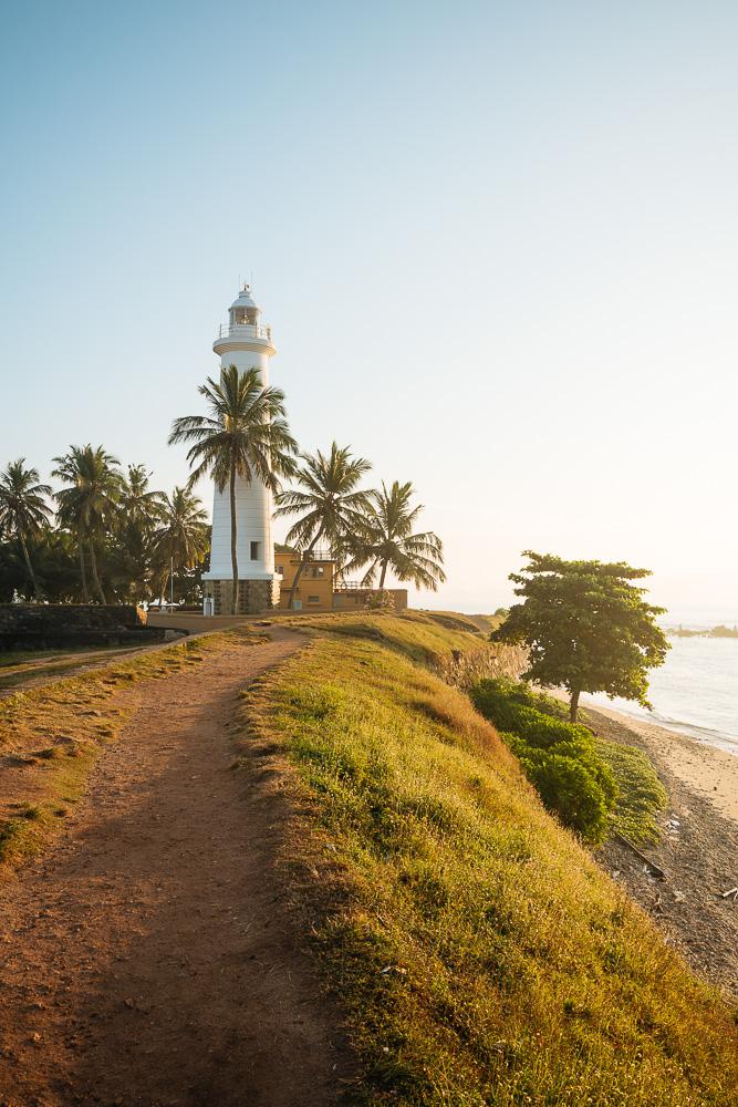 Galle Lighthouse at dawn, Galle, South Coast, Sri Lanka, Asia