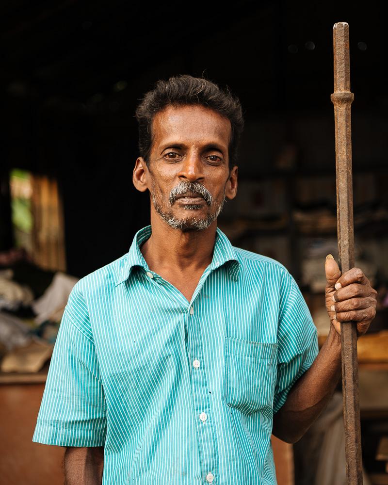 Portrait of man, Jaffna, Northern Province, Sri Lanka, Asia