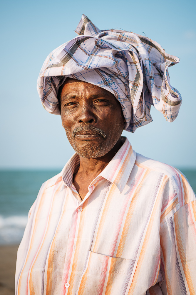 Portrait of Fisherman, Casuarina Beach, Karainagar, Northern Province, Sri Lanka, Asia