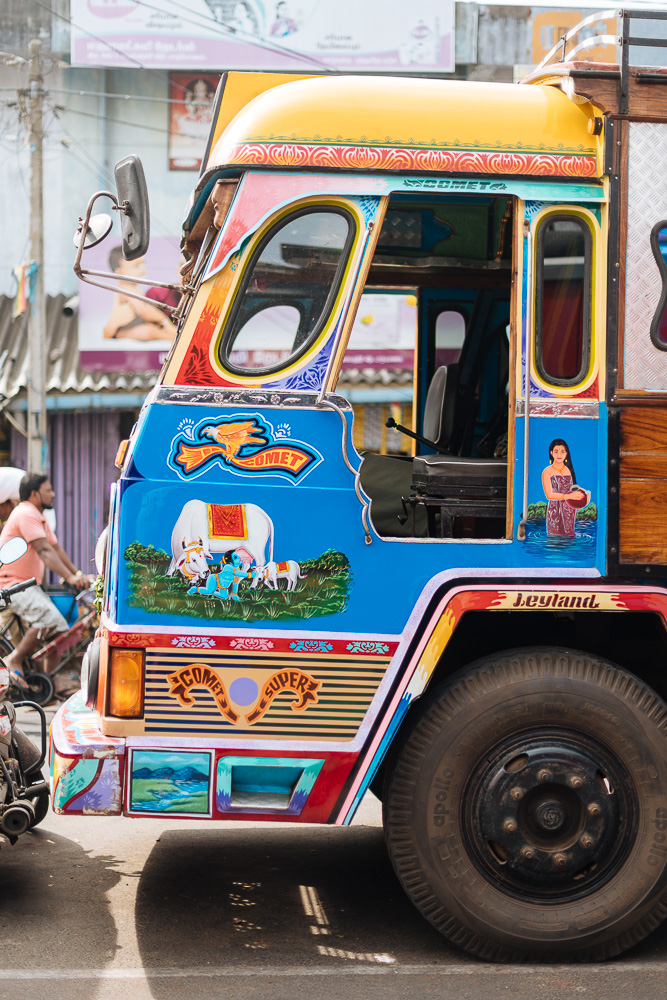 Cab of truck, Jaffna, Northern Province, Sri Lanka, Asia