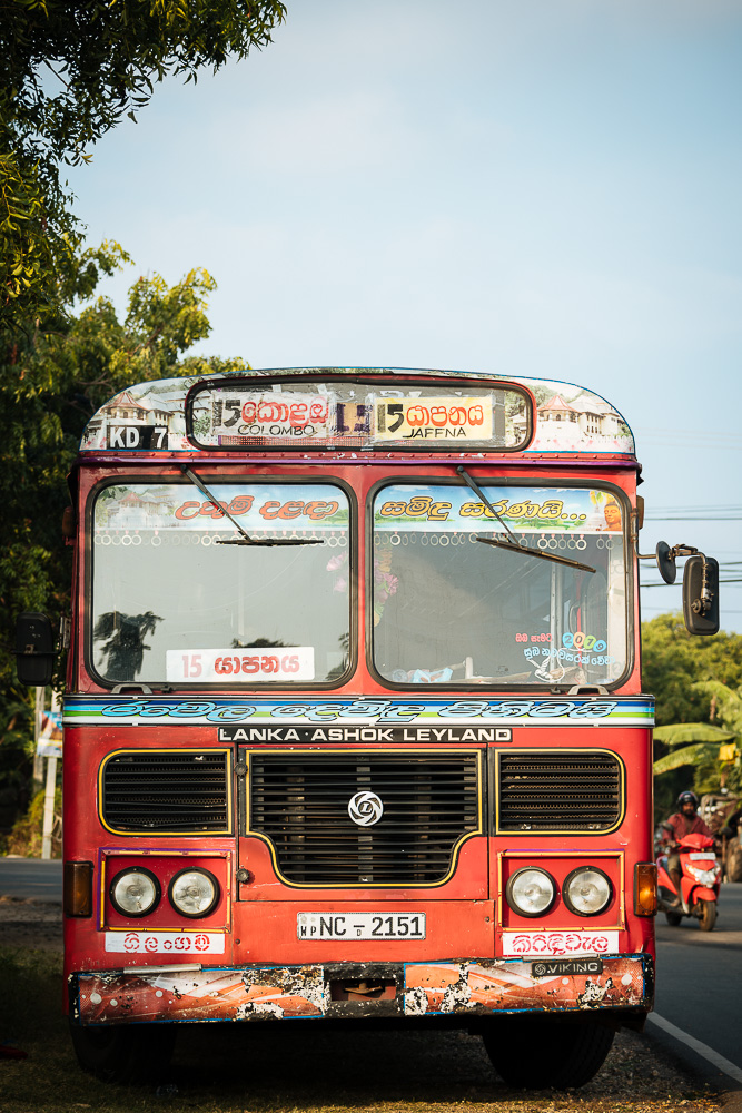 Front of Bus, Jaffna, Northern Province, Sri Lanka, Asia