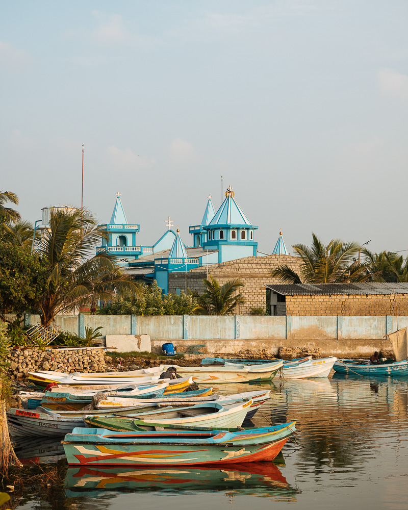 Jaffna Harbour at sunset, Jaffna, Northern Province, Sri Lanka, Asia