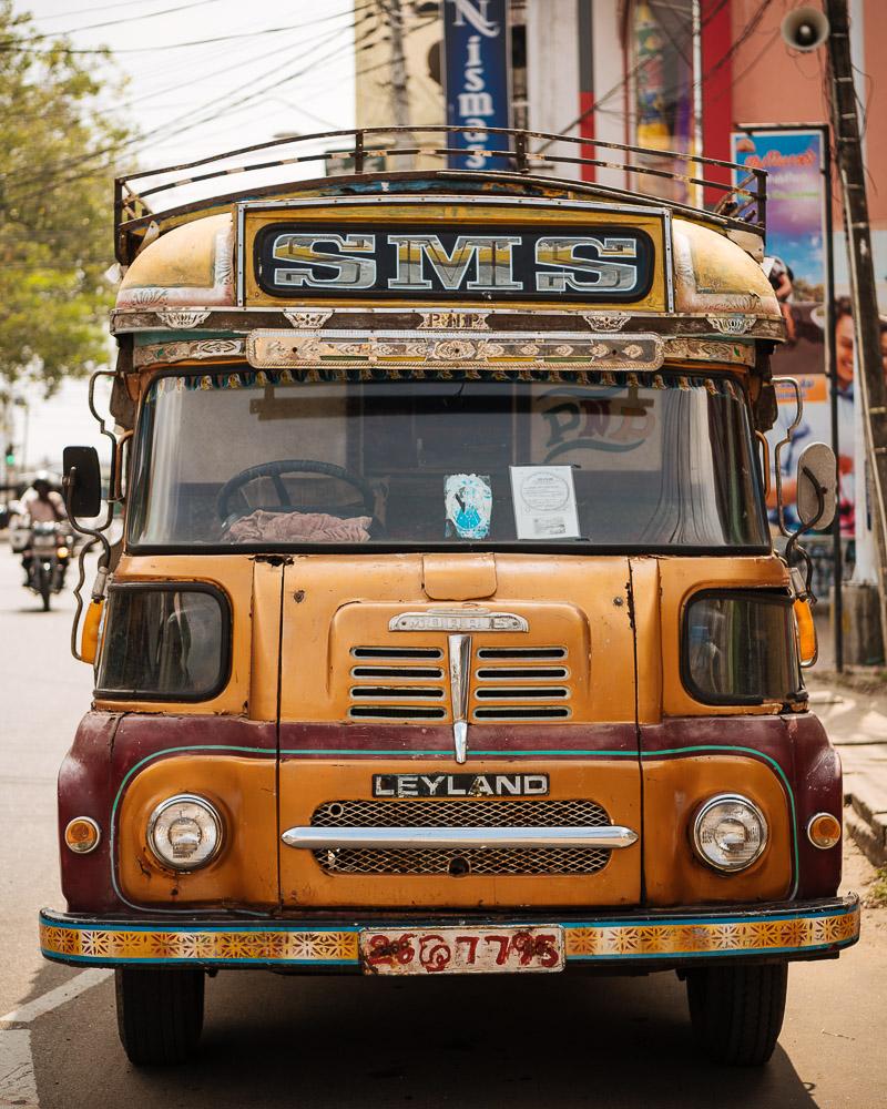 Vintage Bus, Jaffna, Northern Province, Sri Lanka, Asia