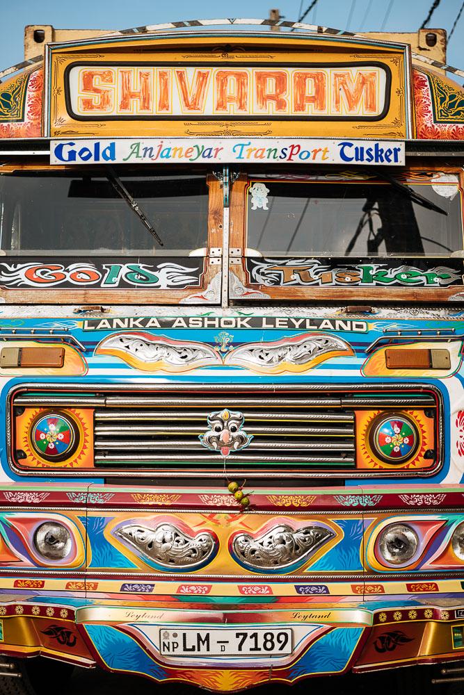 Colourful Truck, Jaffna, Northern Province, Sri Lanka, Asia