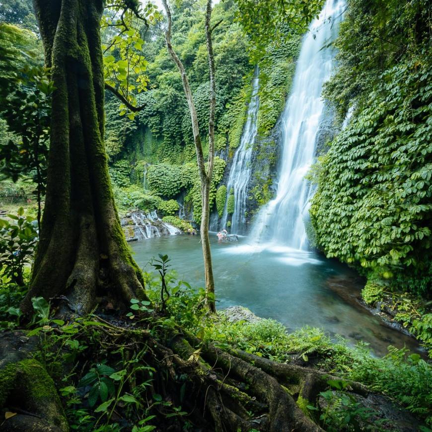 Banyumala Twin Waterfalls, Wanagiri, Buleleng, Bali, Indonesia