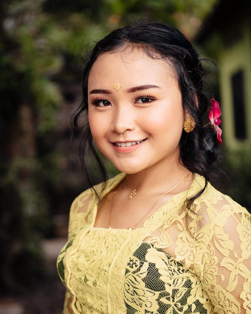 Portrait of Indah, Sidemen, Bali, Indonesia