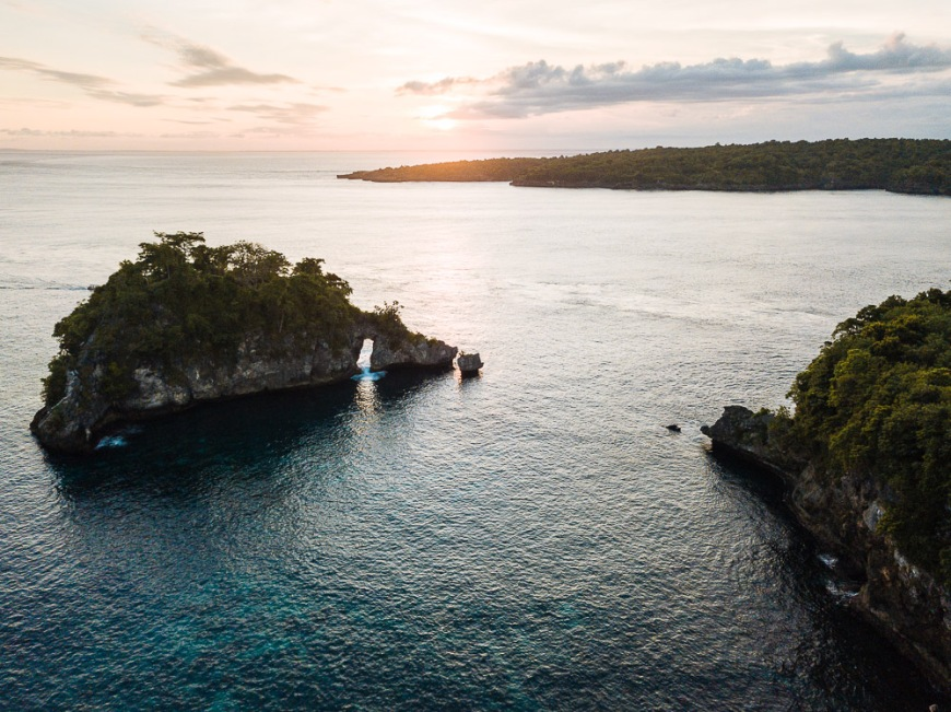 Crystal Bay at Sunset, Nusa Penida, Bali, Indonesia