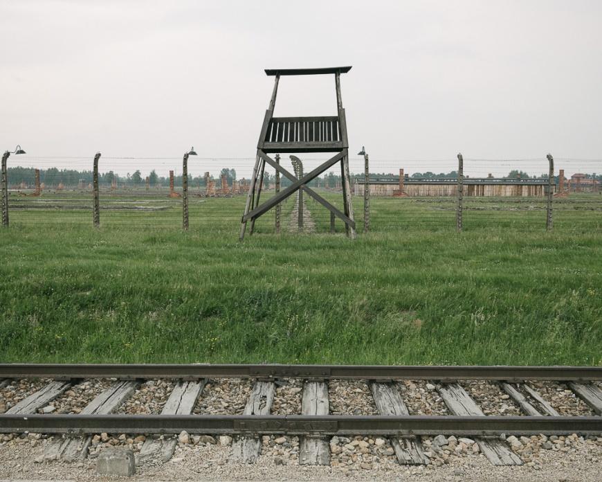 Guard Tower, Birkenau concentration camp, Auschwitz, Poland, Europe