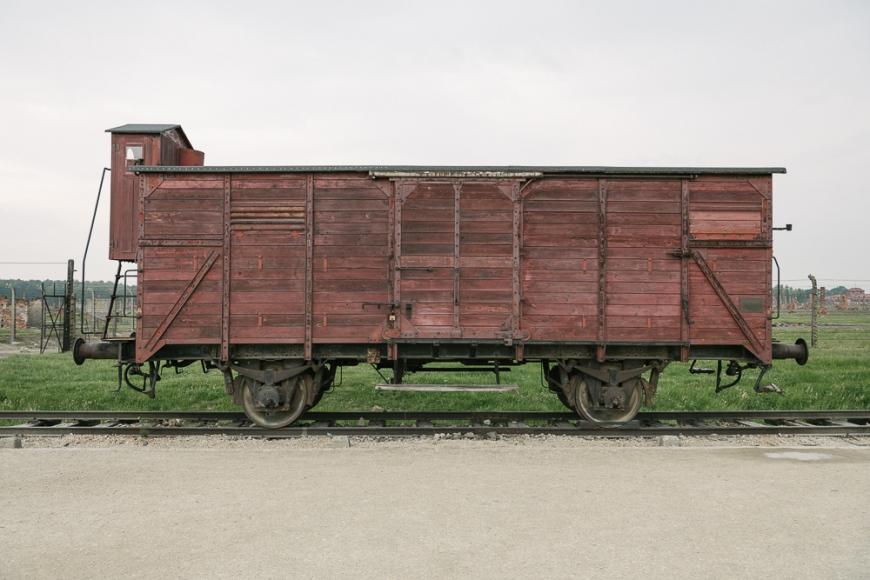 Train Carriage, Birkenau concentration camp, Auschwitz, Poland, Europe