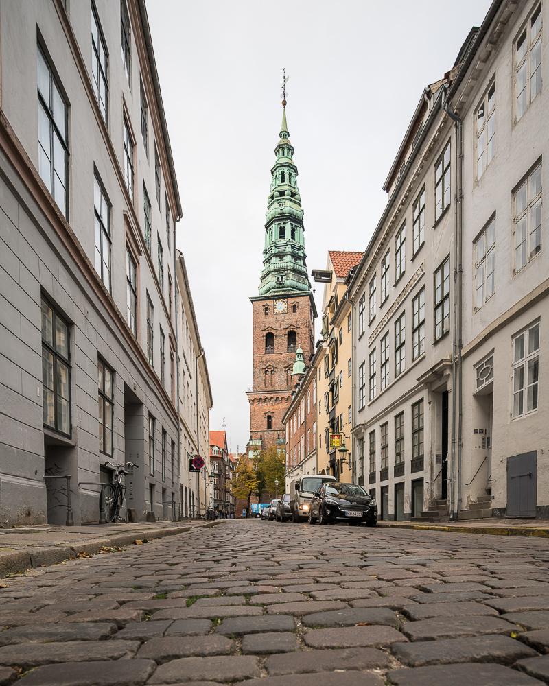 Cobbled Street, Central Copenhagen, Denmark