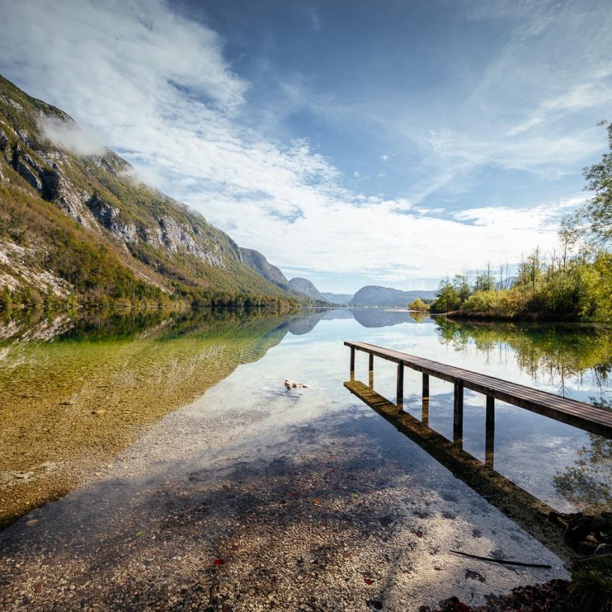 Lake Bohinj, Triglav National Park, Upper Carniola, Slovenia